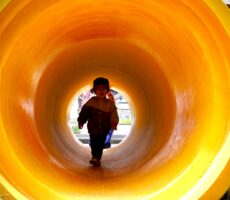作品No:158 はじめてのトンネル<br><br>初めてトンネルを通って満足気な表情を見て下さい!<br><br>