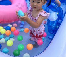 作品No:5 かわいいカラフルボールのプール<br><br>かわいいカラフルボールとおもちゃがたくさんのプールで大喜びでした!!<br><br>