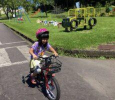 作品No:248 がんばれ〜!!<br><br>自転車の練習をするなら桂公園!補助付き自転車にヘルメット まで借りることができとてもありがたいです。<br><br>