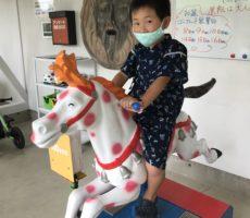 <strong>作品No:142 パカパカ〜♫</strong><br><br>大好きなお馬さんの乗り物で上機嫌です。本物のお馬さんでの乗馬体験もあり、お馬さんは大好きなんです!