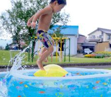 <strong>作品No:110 プールにダイブ!!</strong><br><br>家でもスペース的に出来ず、今年はコロナで市民プールもやってないので、桂公園のプール、すごく助かります☺︎<br /> 楽しんでました*