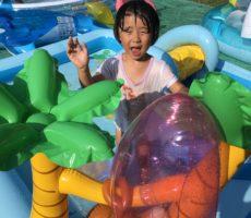 <strong>作品No:133 8月最後の水遊び</strong><br><br>8月に入ってから風邪を引いてなかなかプールに入れなかった娘。ようやく風邪も治り、幼児用のプールで元気いっぱい遊びました。