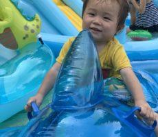 <strong>作品No:53 イルカにのった少年</strong><br><br>イルカに乗ってご満悦でした!