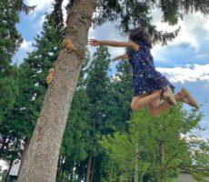 <strong>作品No:107 木の精霊の魔法にかけられて</strong><br><br>決して合成写真ではありません!!<br /> 地面に這いつくばって撮影した甲斐あり、<br /> 木の精霊に魔法をかけられたような、奇跡の一枚がとれました☺️